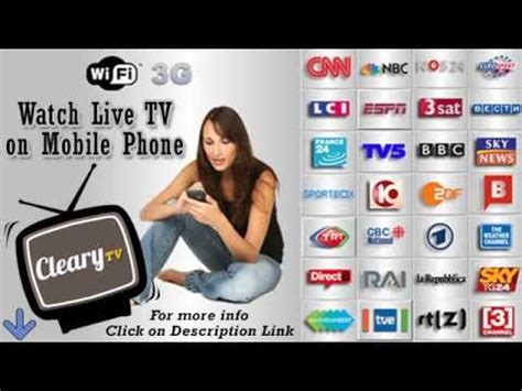 live tv on mobile live tv on android mobile phone how to tv on