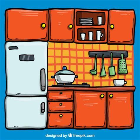 kitchen illustration vector free