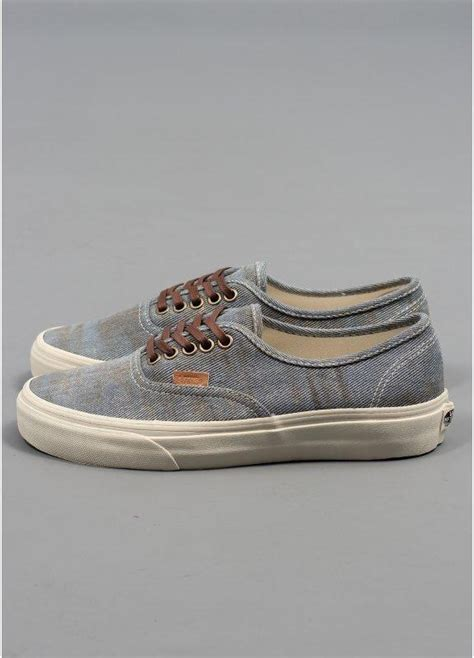 Vans California Blue Canvas vans california authentic shoes stained light blue triads