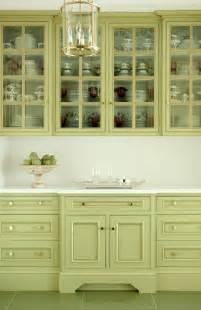 Green Kitchen Cabinet Pretty Green Cabinets Free House Interior Design Ideas