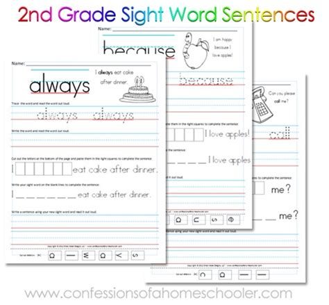printable reading games for 2nd grade free printable 2nd grade sight word sentences word