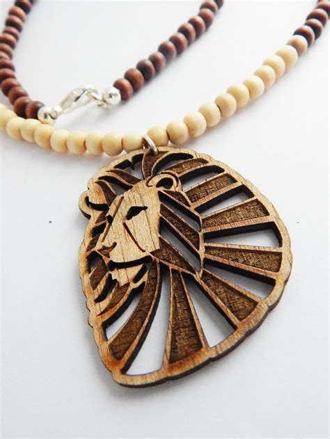 Handmade Mens Gifts - wood beaded necklace jewelry mens