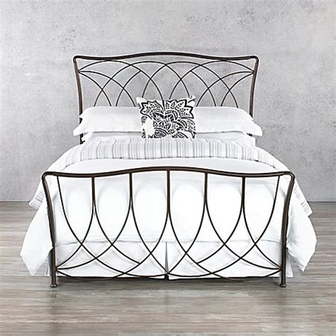 Bed Frame Bed Bath And Beyond Buy Wesley Allen Marin Iron Bed Frame In Aged Steel From Bed Bath Beyond