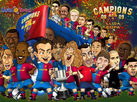 wallpaper barcelona kartun los bar 231 a toons celebran el t 237 tulo de liga