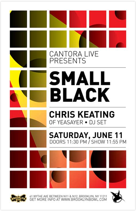 grid layout poster design cantora live poster amanda friend