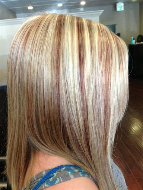 copper lowlights for short blonde hair o jpg