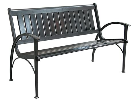 bench outdoor furniture patio furniture bench contemporary cast aluminum black