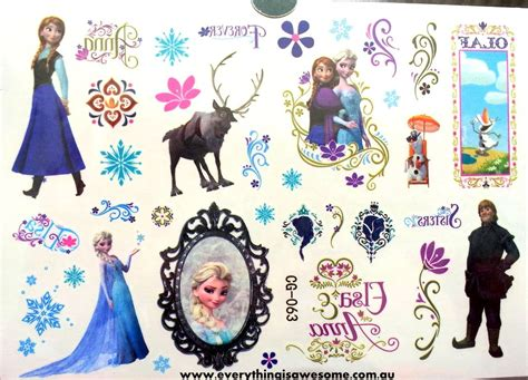 Disney Frozen Temporary Tattoos For New everything is awesome disney frozen temporary cg 063