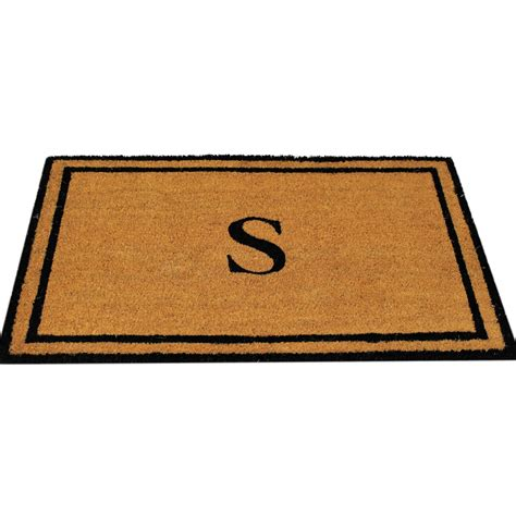 Monogrammed Mat by Personalized Monogrammed S Coco Coir Doormat Customized