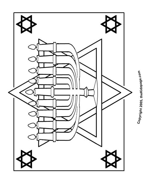 Menorah Free Coloring Pages For Kids Printable Menorah Coloring Pages