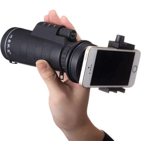 universal 10x40 hiking concert camera lens monocular+phone