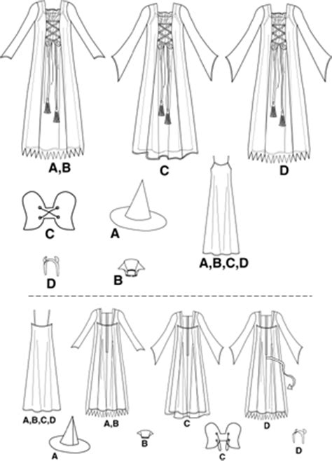 pattern review template simplicity 9309 witch costume