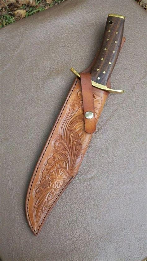 hand crafted custom sheath  large custom knife  alamo
