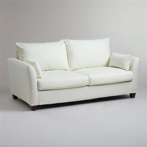 sofa word ivory luxe sofa slipcover world market