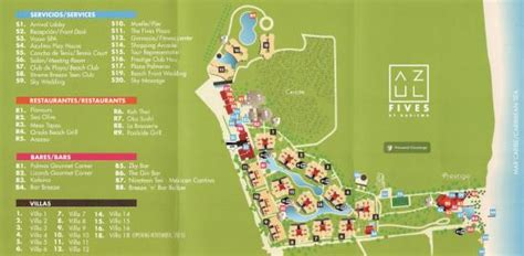 azul resort map foto de azul resort the fives playa