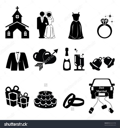 Wedding Vector by Wedding Icons Clipart 44