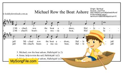row your boat song origin michael row the boat ashore my song file