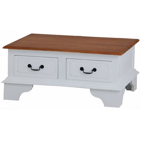coffee table with drawers australia javanese timber coffee table w 4 drawers in white buy
