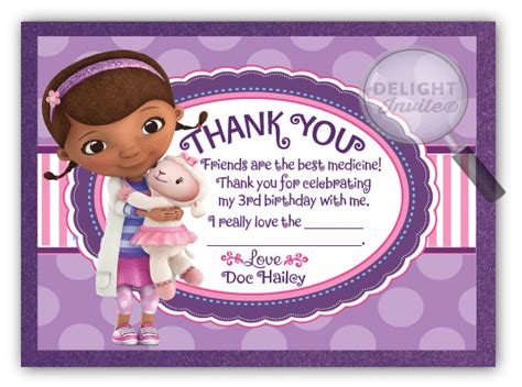 Doc Mcstuffins Thank You Card Template by Doc Mcstuffins Thank You Cards Di 248ty Harrison