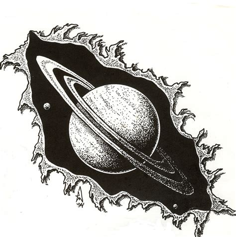 saturn tattoo flash by mordomorbius on deviantart