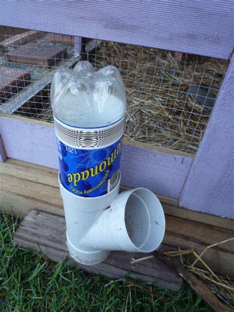 diy pvc soda bottle chicken waterer super simple project