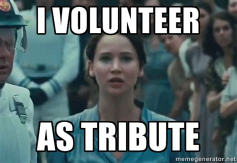 I Volunteer As Tribute Meme - volunteer positions toronto gaymers