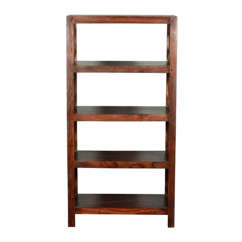 wooden shelves x solid acacia wood 4 shelf bookcase