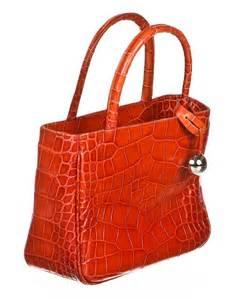 Tote Bag Miyu 16 Furla Orange Crocodile Embossed Tote Handbag Orange