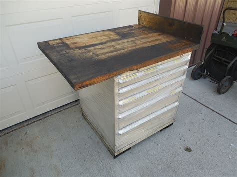 lista bench stor loc 5 drawer industrial tooling storage cabinet and work bench vidmar lista ebay