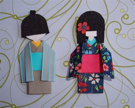 How To Make Japanese Paper Dolls - 258 best origami paper dolls images on origami