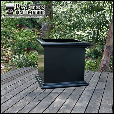 Large Fiberglass Planters by Square Planter Box Large Fiberglass Planter
