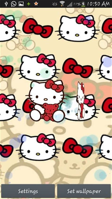 3d wallpaper of hello kitty hello kitty 3d live wallpaper app for android