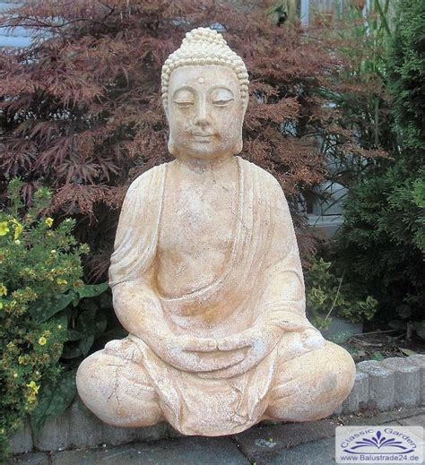 Garten Deko Buddha by Buddha Gartenfigur Statue Buddhafigur Gartenfiguren Aus