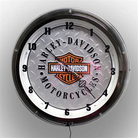 Vintage Retro Cooper Harley Metal Iron Table Clock Jam Meja harley davidson clock shop collectibles daily