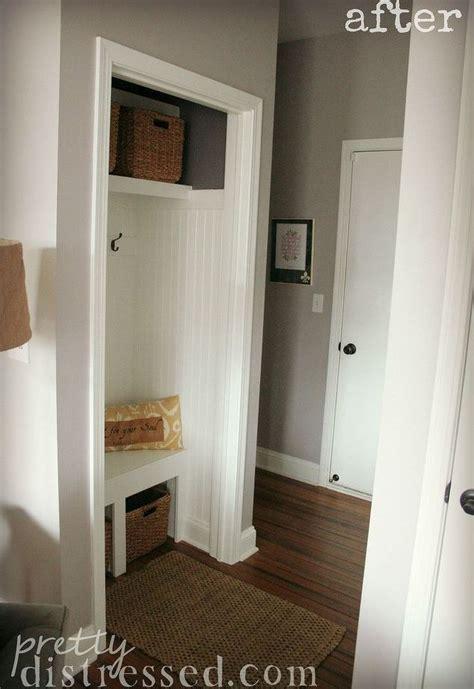hall closet turned mini mudroom hall closet entry