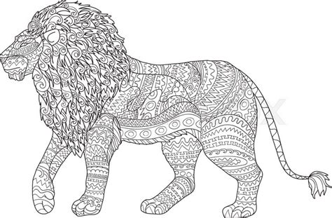 animal zendoodle coloring pages adult coloring page for antistress art therapy hand drawn