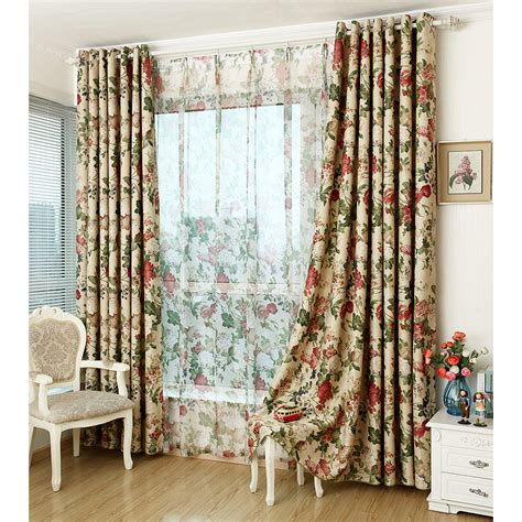chic curtains cheap cheap floral print polyester insulated waverly shabby chic