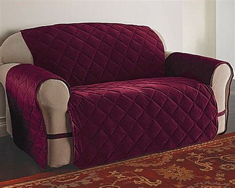 burgundy sofa and loveseat sofa velvet ultimate furniture protector slipcover