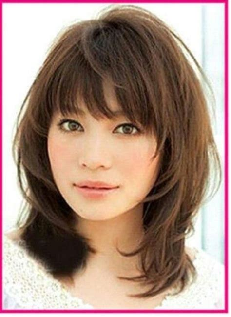 medium length hairstyles for narrow faces wispy 27 flattering hairstyles for round faces hair