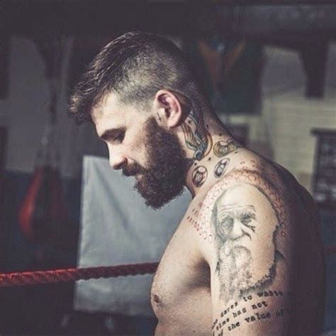 beard tattoo model homme pinterest one by