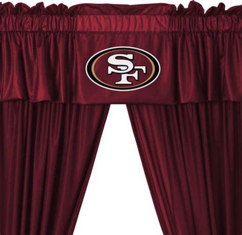 curtains san francisco nfl san francisco 49ers 5 piece long jersey drapes valance