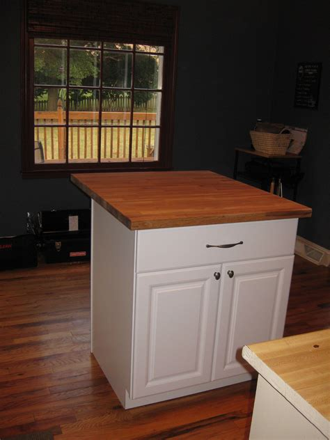 diy kitchen island tutorial from pre made cabinets learning to be a grown up