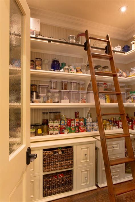 Pantry Ladder 53 mind blowing kitchen pantry design ideas