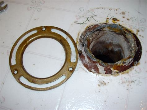 How To Replace A Closet Flange by What Do I Replace Cast Iron Flange With For Toilet