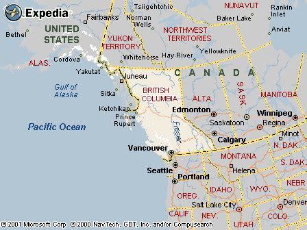 kamloops map  kamloops satellite image