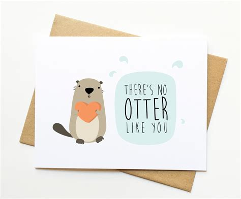 no otter like you pun card from le