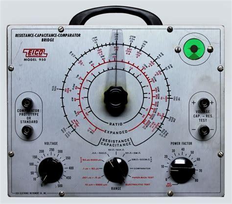 capacitor test equipment radiolaguy eico capacitor tester