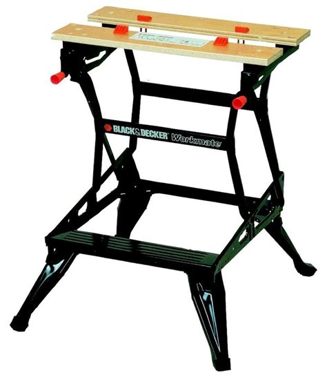 saw horse work bench black decker folding workmate dual cl workbench tool