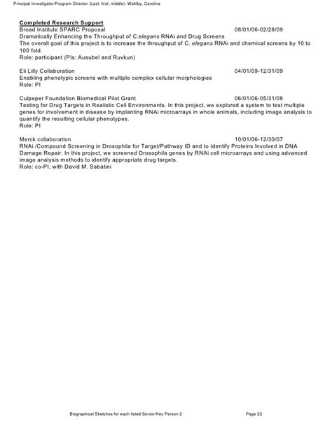 Nih Support Letter Template Nih Grant With Comments