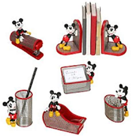 disney world magic mickey mouse 6 pc mesh desk set